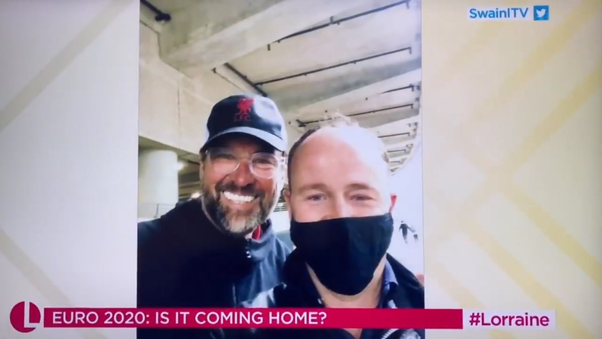 (Video) Ridiculous: ITV reporter reckons Jurgen Klopp was getting drunk outside Wembley on England fan's shoulders – but he's had an absolute stinker