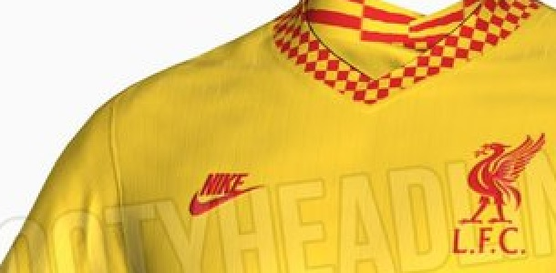 (Photos) New pictures of Liverpool's yellow alt kit for 2021/22 leaked