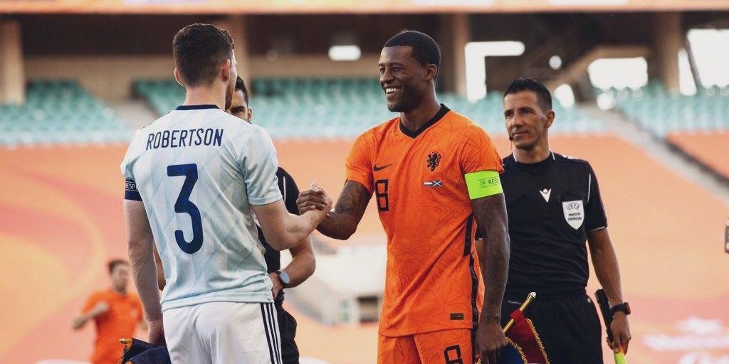 (Video) What Wijnaldum tells Robertson before Netherlands v. Scotland will break Liverpool hearts