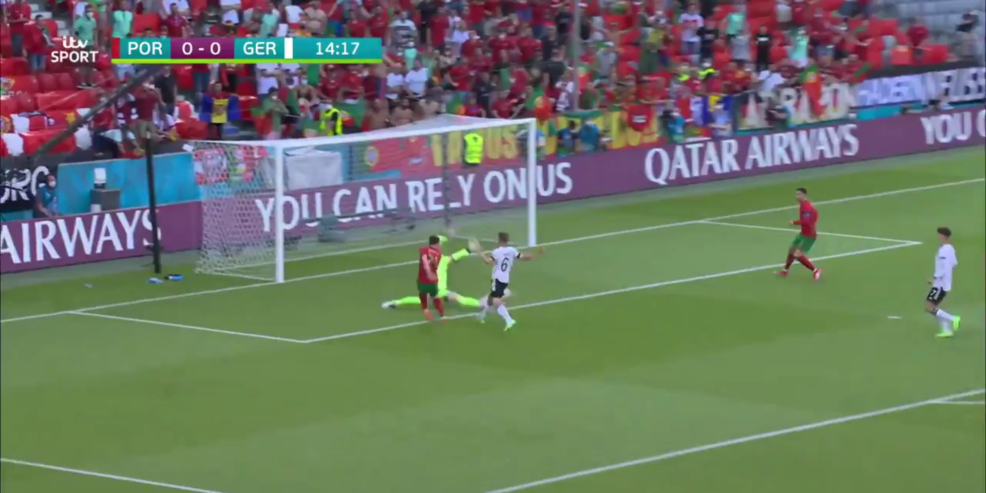 (Video) Jota puts it on a plate for Ronaldo after rapid Portugal counter-attack at Euro 2020