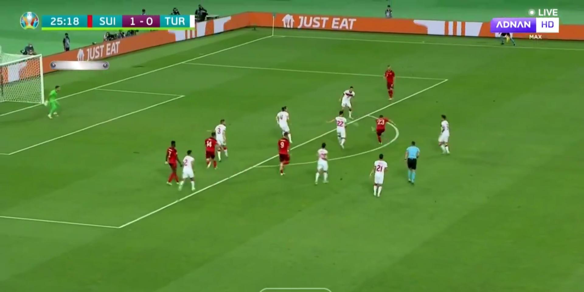 (Video) Xherdan Shaqiri bags unreal goal with weak foot for Switzerland at Euro 2020