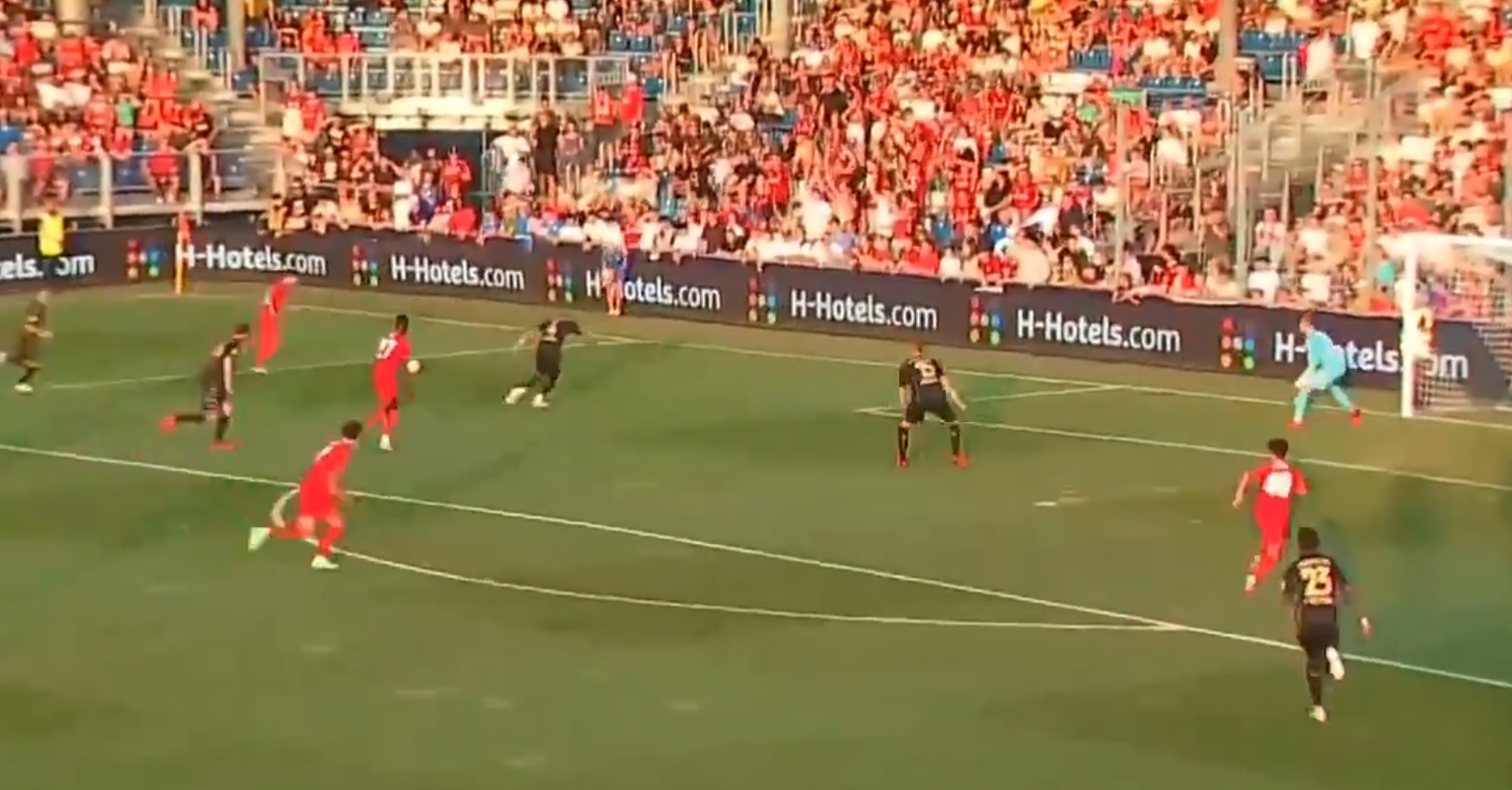 (Video) Liverpool handed late fortune with own goal following incisive Owen Beck cross