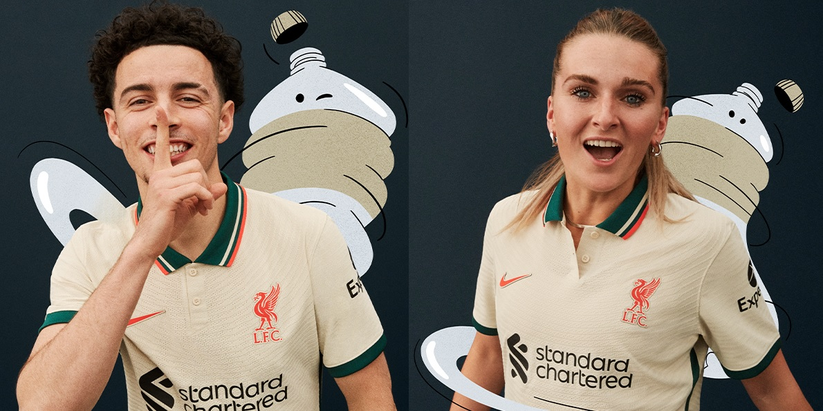 (Photos) Liverpool officially launch stunning new away kit for 2021/22 season