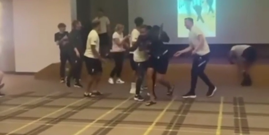 (Video) Salah shares hilarious clip of Matip & Liverpool team-mates dancing: 'This happens when you lose'