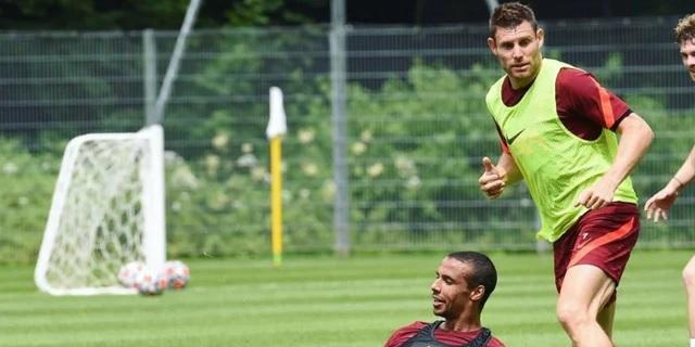 James Milner cracks Joel Matip joke as Liverpool continue pre-season preparations