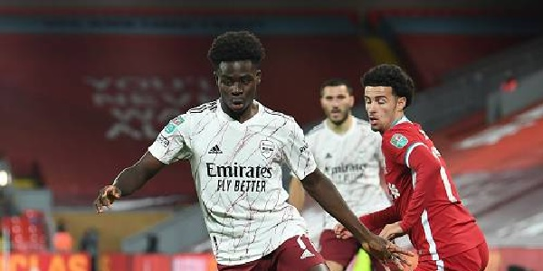 Liverpool starlet hits social media with heart-warming message for England's Bukayo Saka