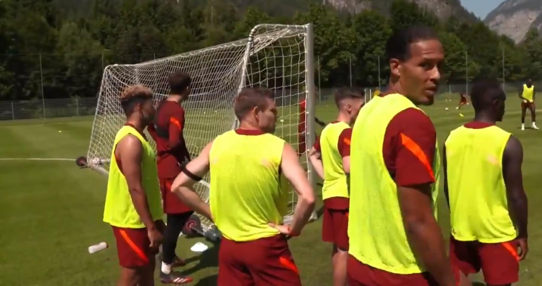 (Video) Van Dijk hands Liverpool goalkeeper Kelleher huge praise in training: 'Playing like Dida'