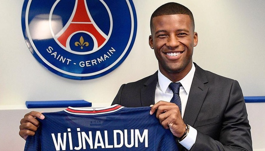 Wijnaldum mentions Liverpool during PSG unveiling: 'When I played here…'