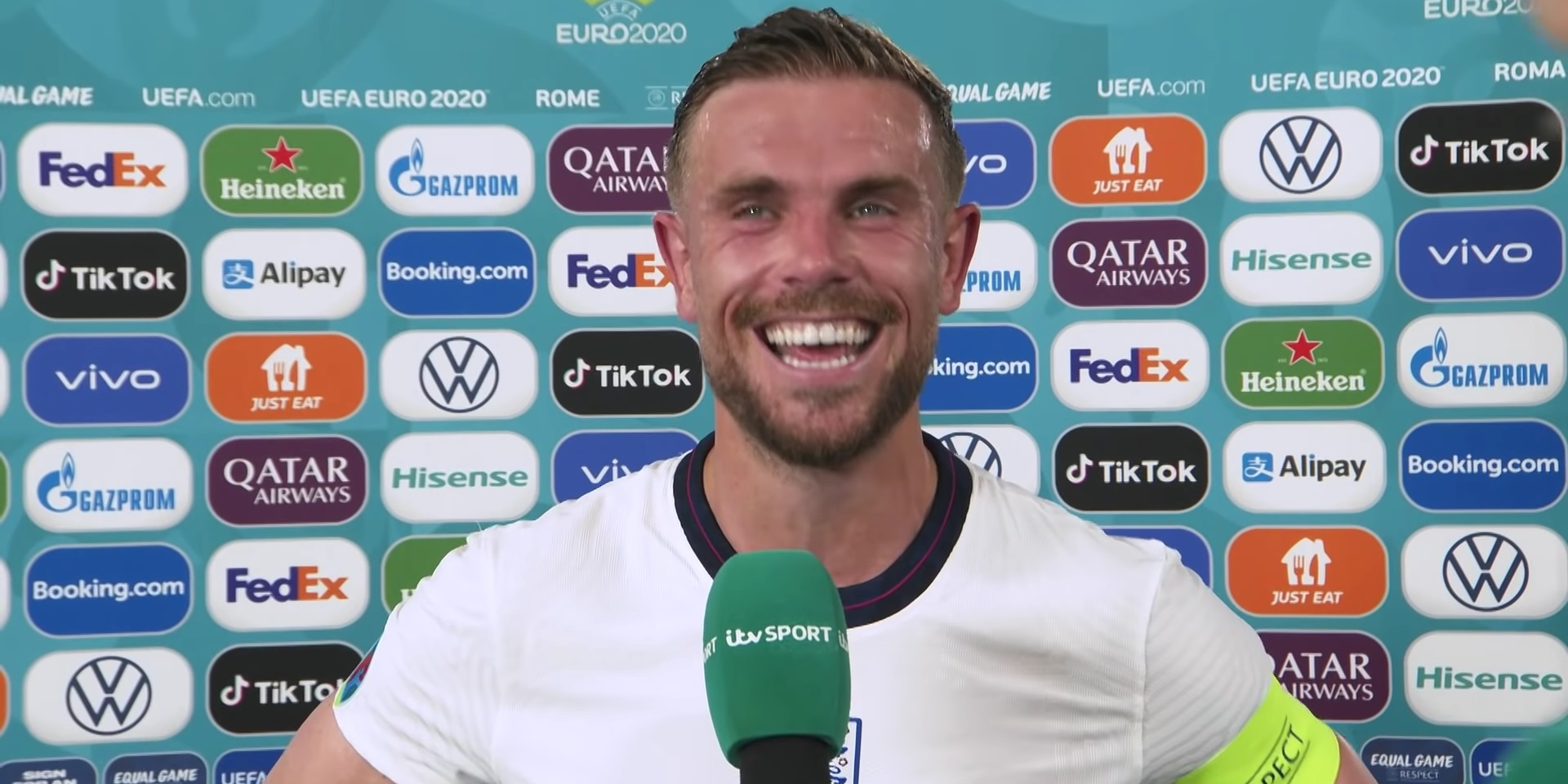 """(Video) Henderson jokes with reporter after scoring first England goal: """"I told you!"""""""
