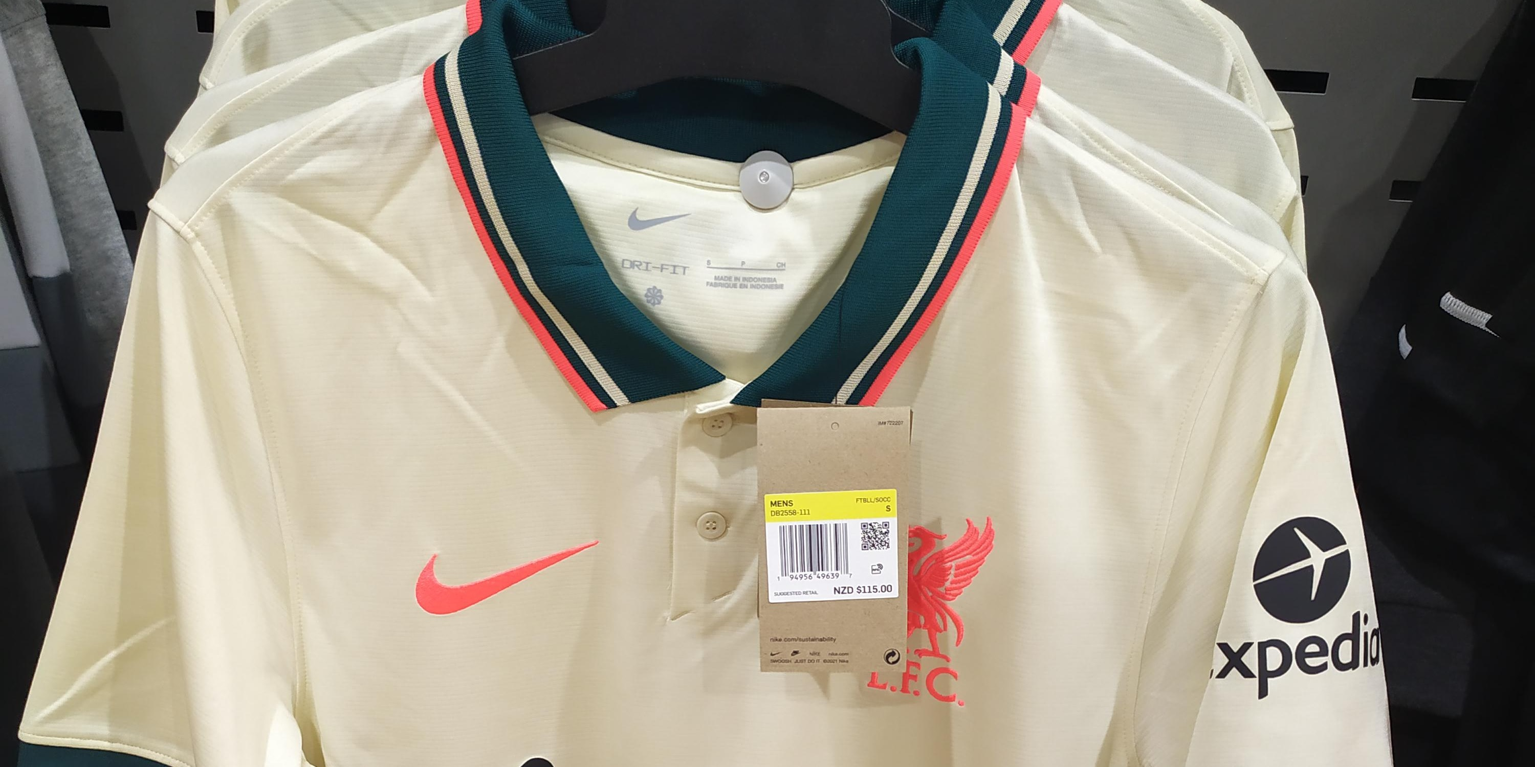 (Photo) Liverpool's new away kit for 21/22 spotted on sale in store
