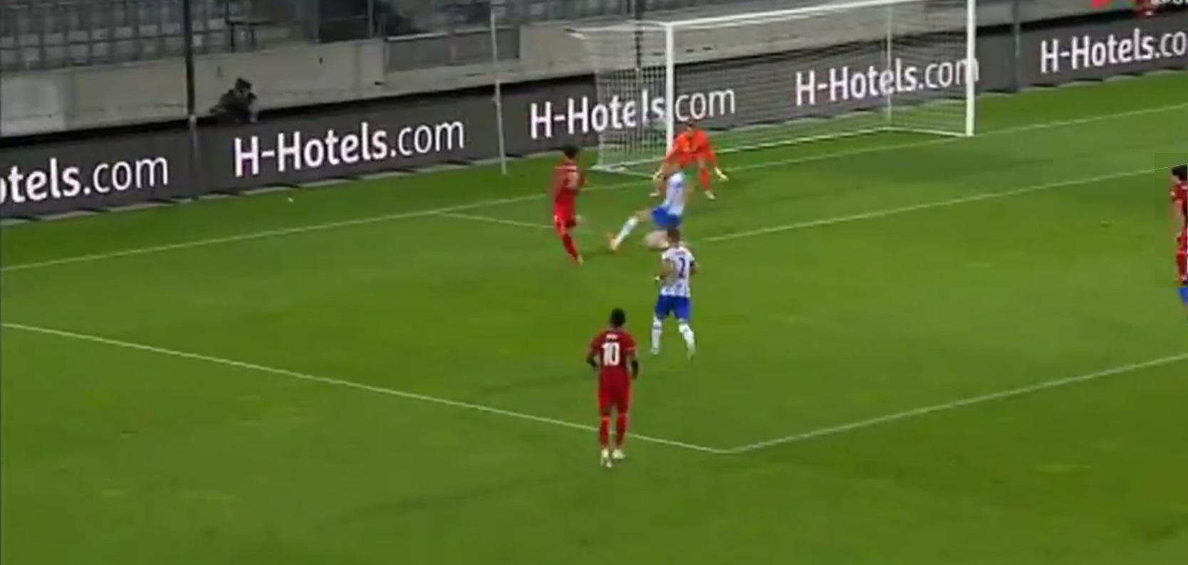 (Video) Taki Minamino links up with Mo Salah to score beautiful Liverpool goal