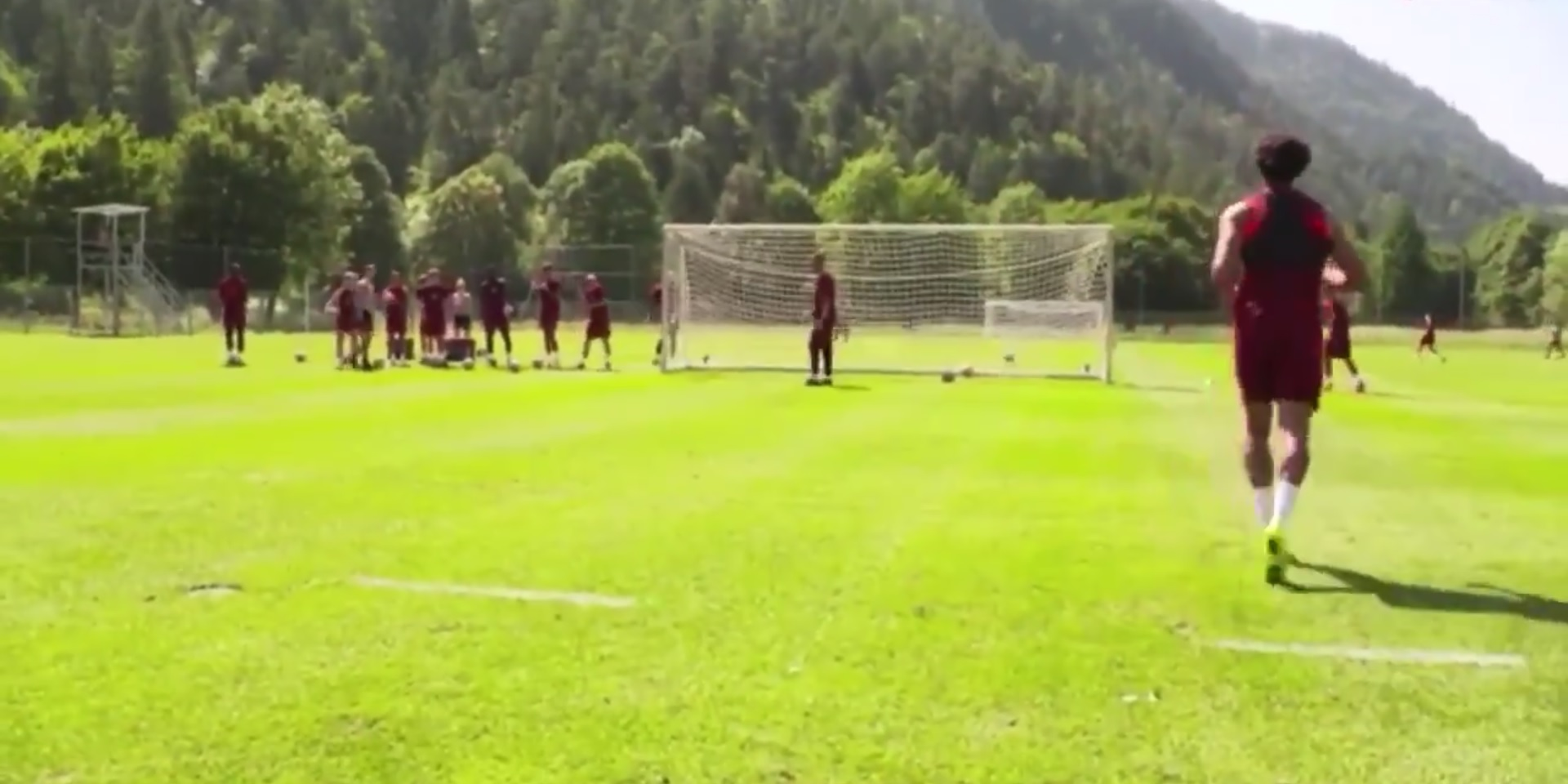 (Video) Trent scores with sweet strike in LFC training – no 'keeper is ever saving it