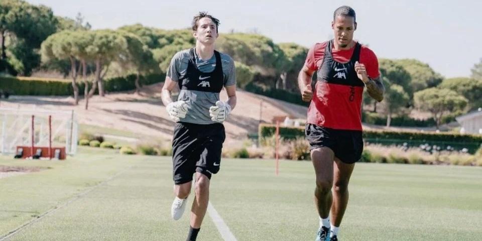 (Photo) Virgil van Dijk trains with Liverpool starlet ahead of pre-season
