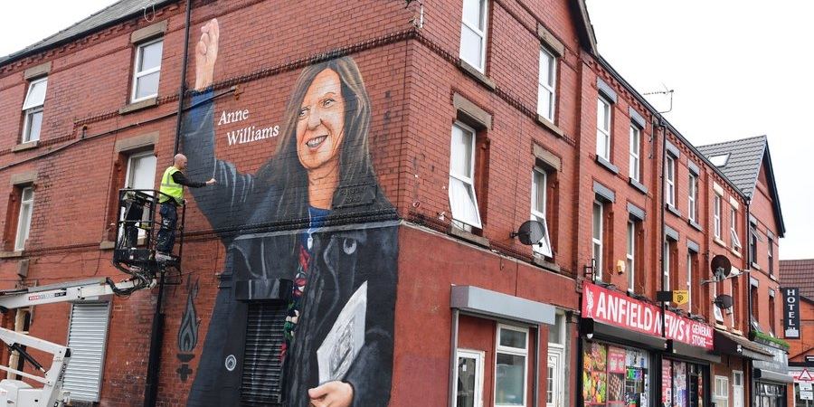 (Photo) Stunning Anne Williams mural appears near Anfield in Liverpool