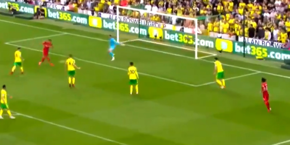 (Video) Firmino doubles Liverpool's lead after superb linkup play between front-three