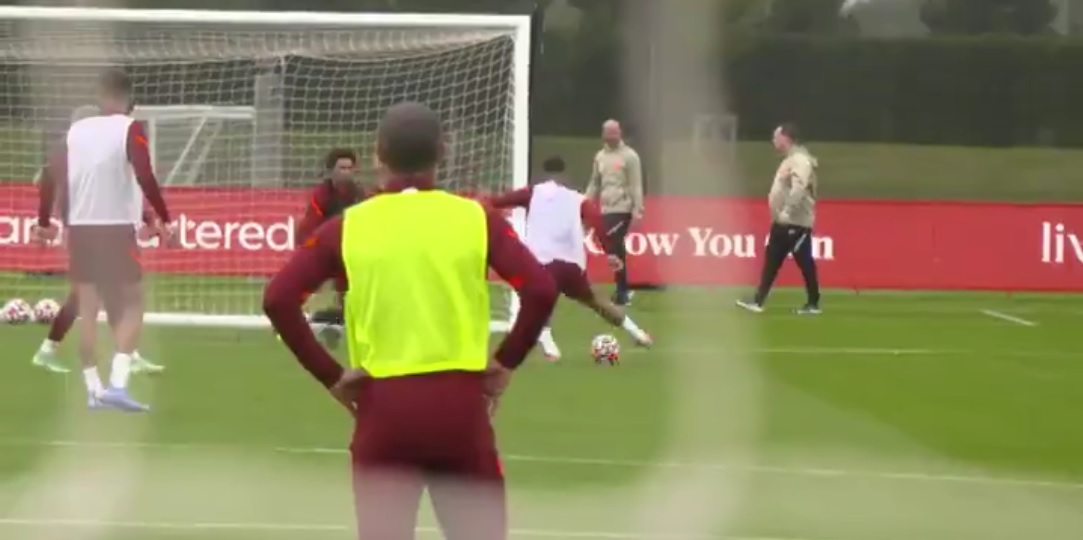 (Video) Firmino rounds goalkeeper in Liverpool training & finishes expertly