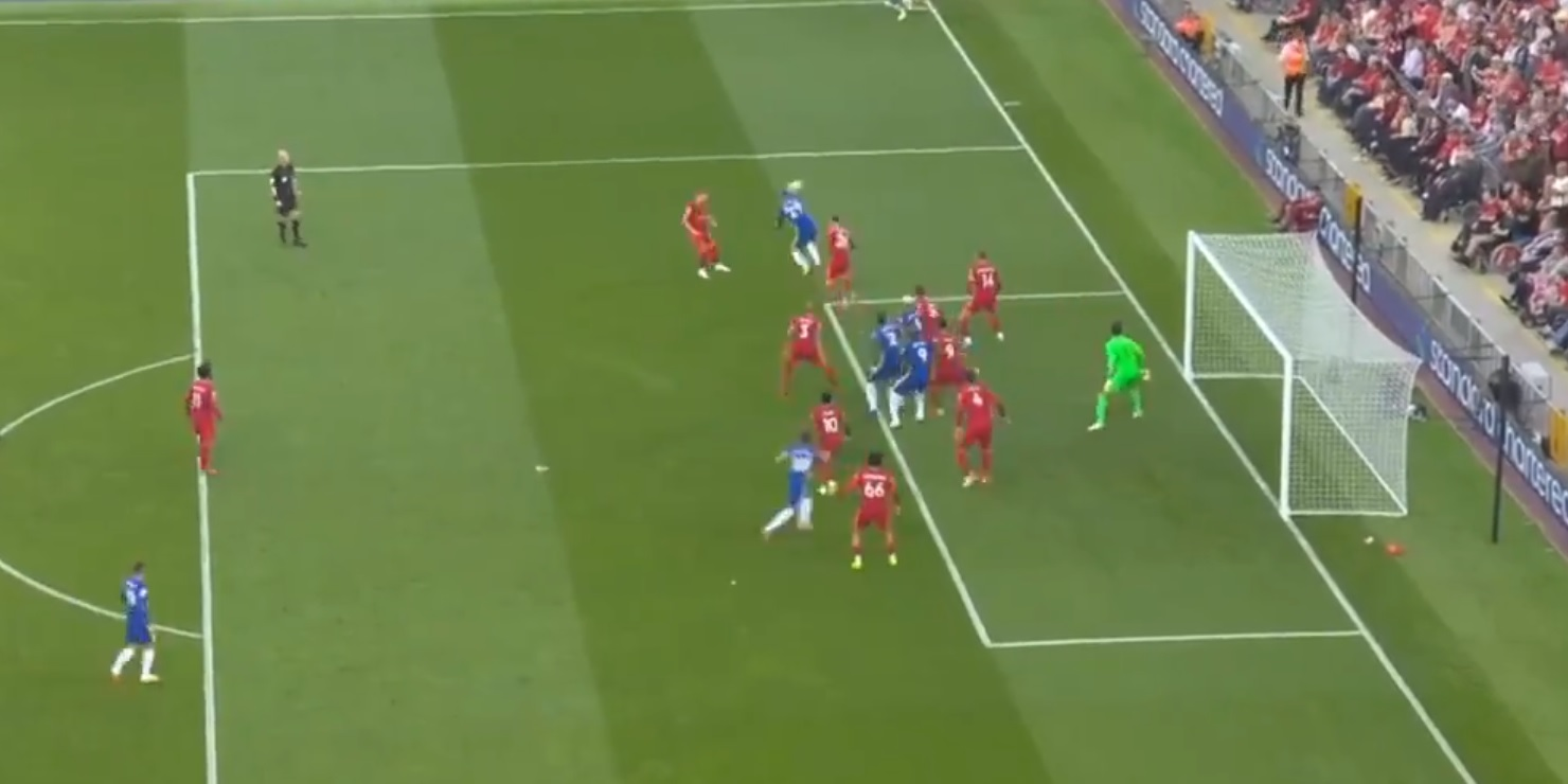 (Video) Superb looping Havertz header surprises Alisson & hands Chelsea the lead at Anfield