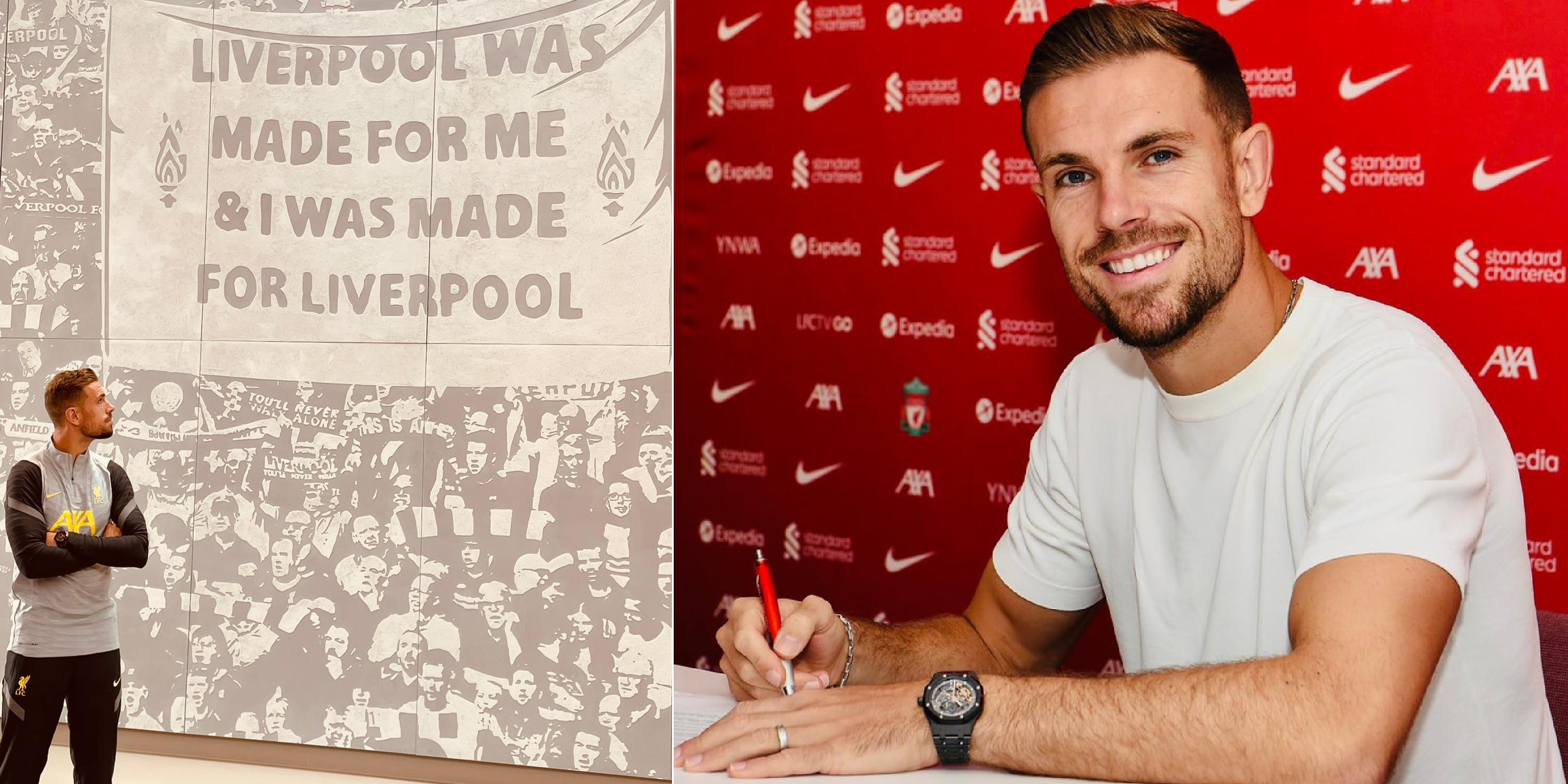 Henderson hits social media after signing long-term Liverpool contract: 'I'll continue to give absolutely everything'