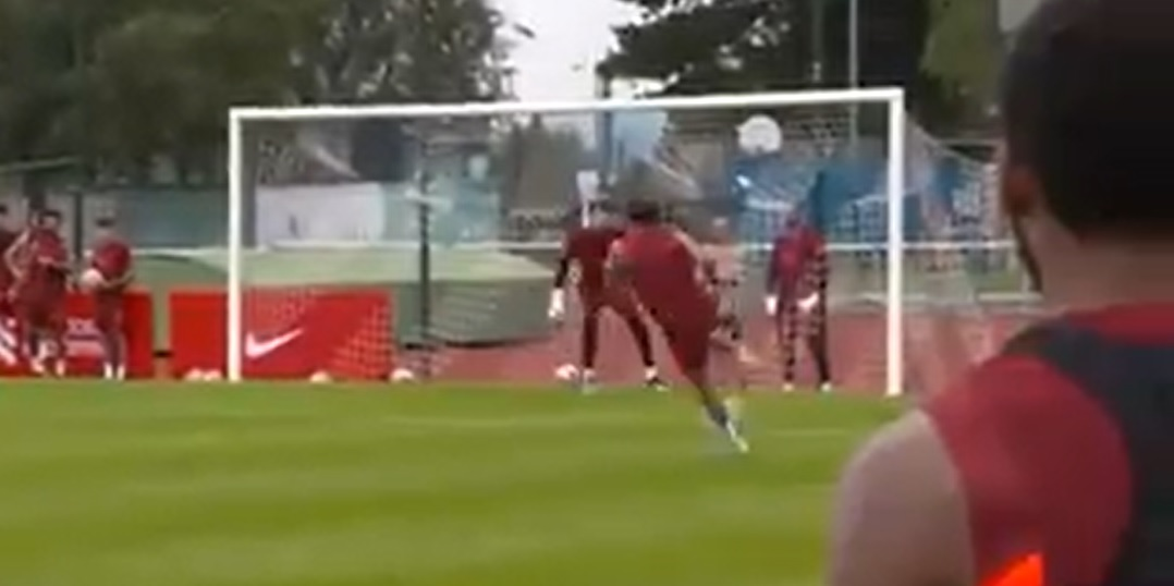 (Video) Curtis Jones wows teammates with unorthodox volley in pre-season training