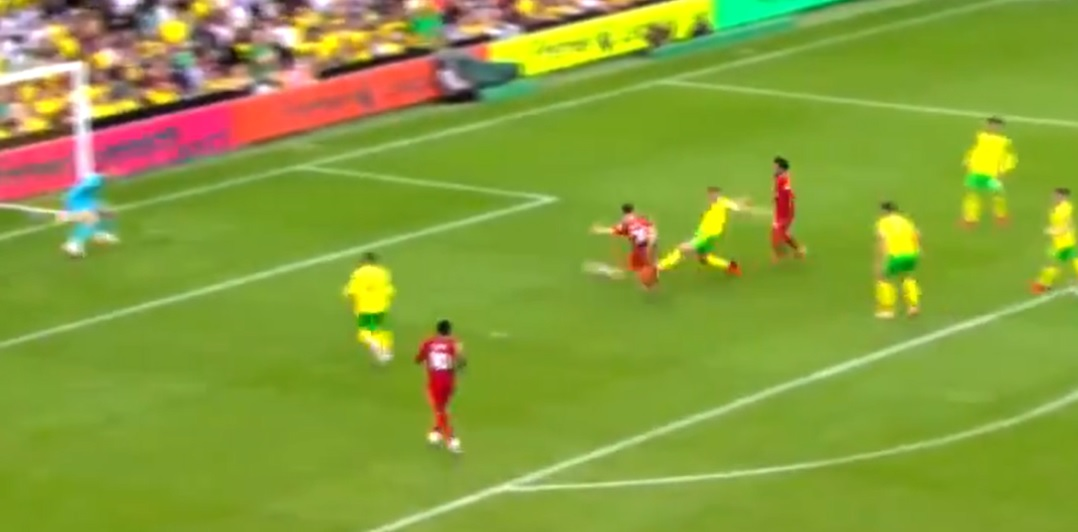 (Video) Diogo Jota fires Liverpool ahead after Salah's poor touch fortunately finds him