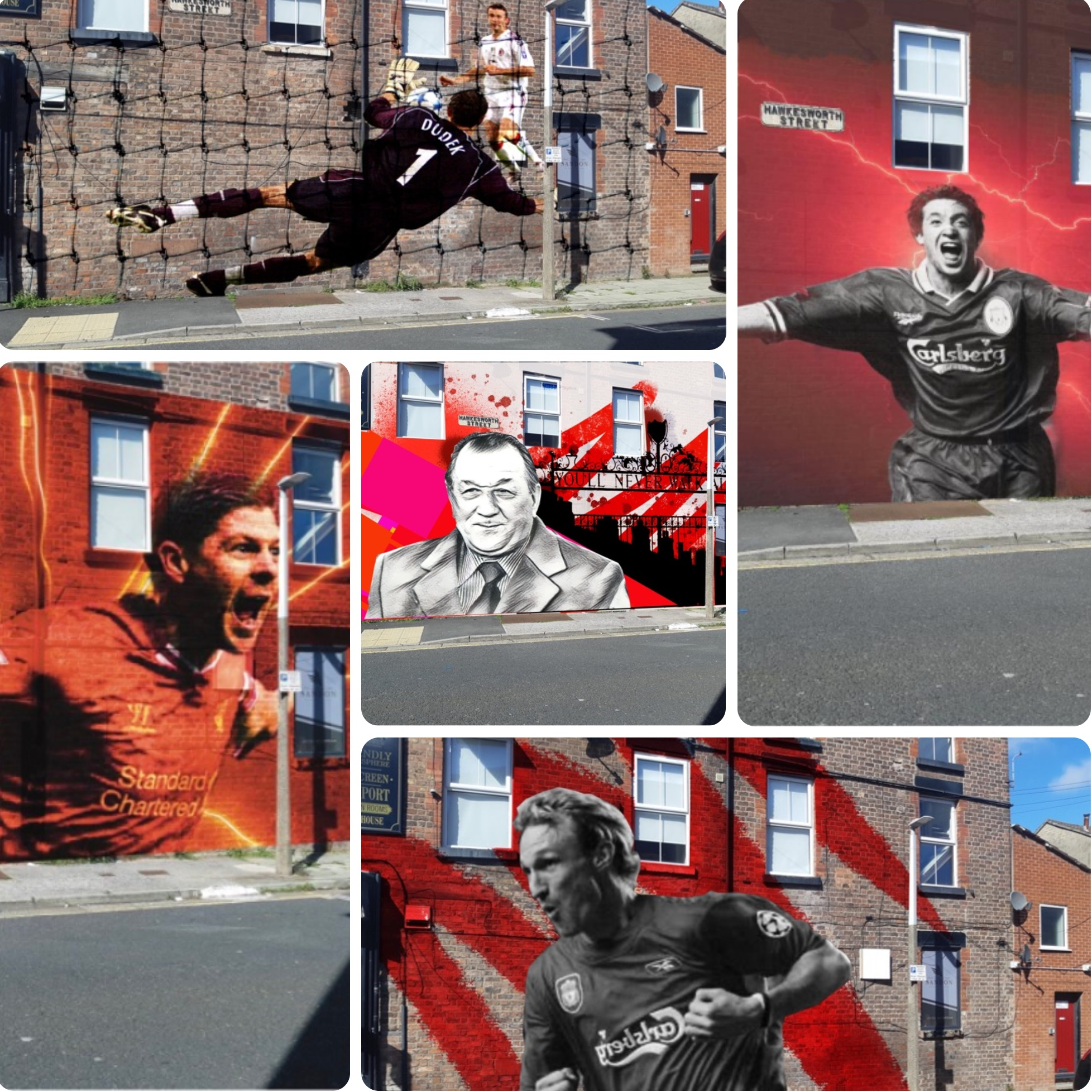 (Images) Liverpool fans handed chance to vote on one of five mural options to be painted at iconic city spot