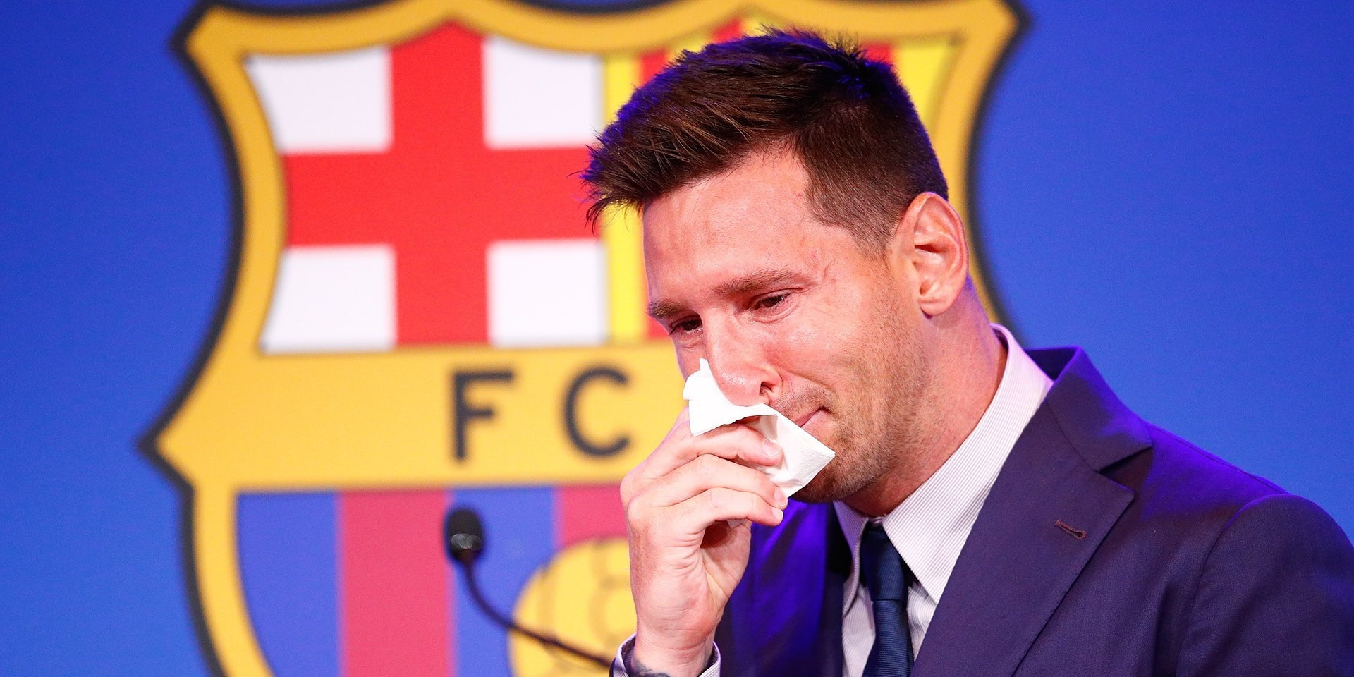 Leo Messi namedrops Liverpool in Barcelona exit presser