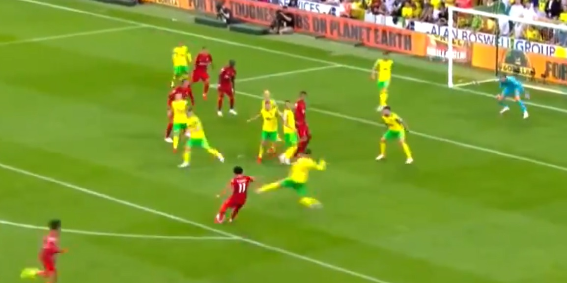 (Video) Salah makes it 3-0 Liverpool with a brilliant curled effort