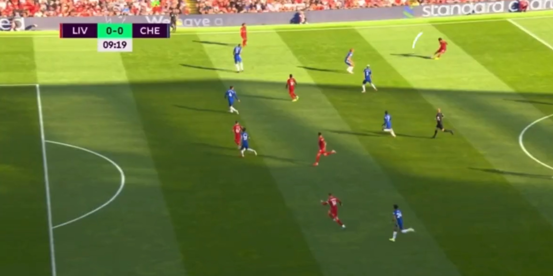 (Video) Trent sets up goalscoring opportunity with glorious lofted ball from close to the halfway line