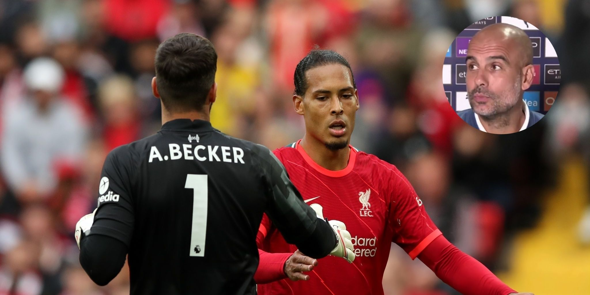 Guardiola brings up Liverpool, Van Dijk & Alisson when challenged on City's spending this summer