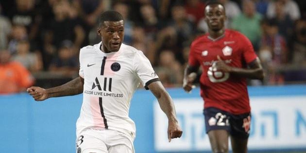 (Photos) Wijnaldum makes PSG debut; former LFC star looks weird in different kit