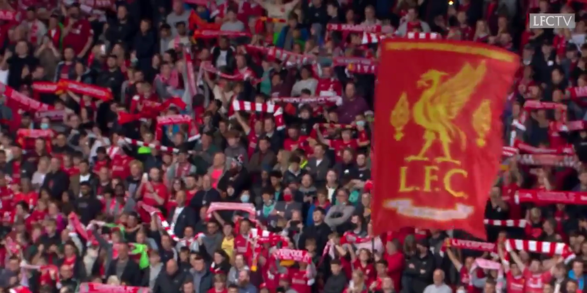 (Video) 40,000 Liverpool fans belt out spine-tingling rendition of YNWA on Anfield return
