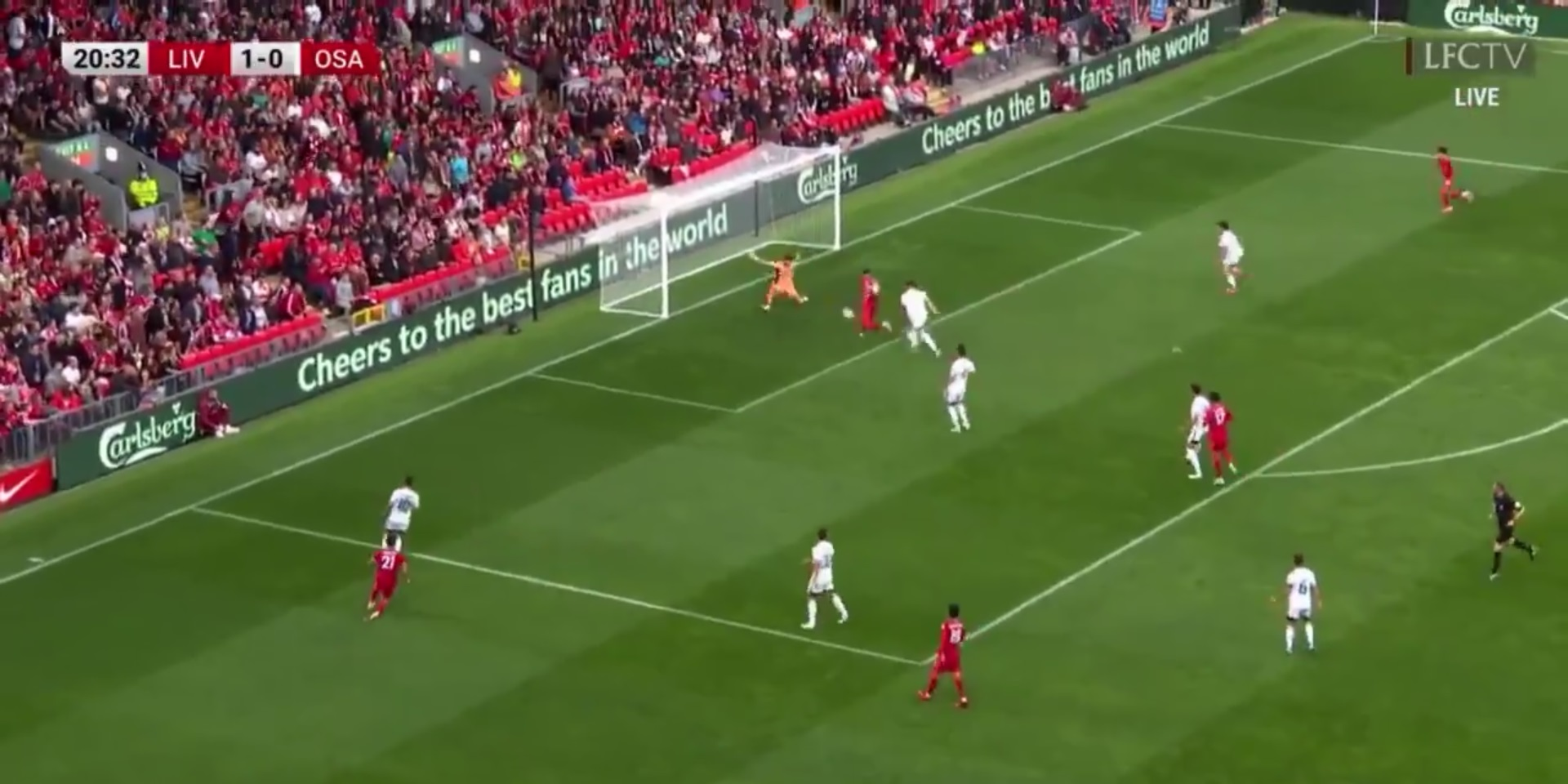 (Video) Firmino bags tidy goal after brilliant build-up play by Tsimikas