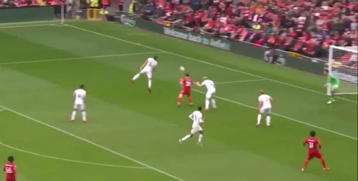 (Video) Anfield erupts as Diogo Jota puts Liverpool 1-0 up; Kostas Tsimikas assists