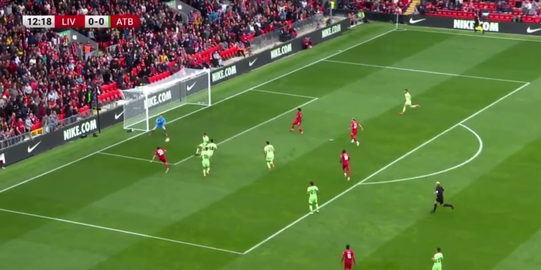 (Video) Diogo Jota slams in great strike to put Liverpool ahead at packed Anfield