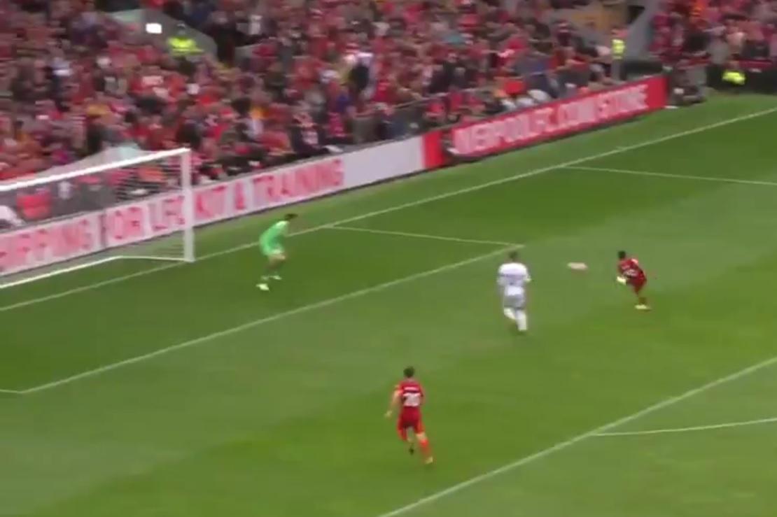 (Video) Sadio Mane doubles Liverpool lead after stunning team move involving Harvey Elliott