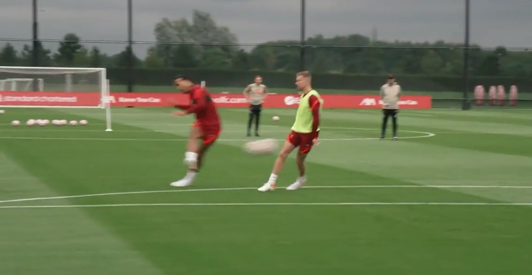 (Video) Virgil van Dijk beats Alisson with tidy shot from 20 yards in Liverpool training