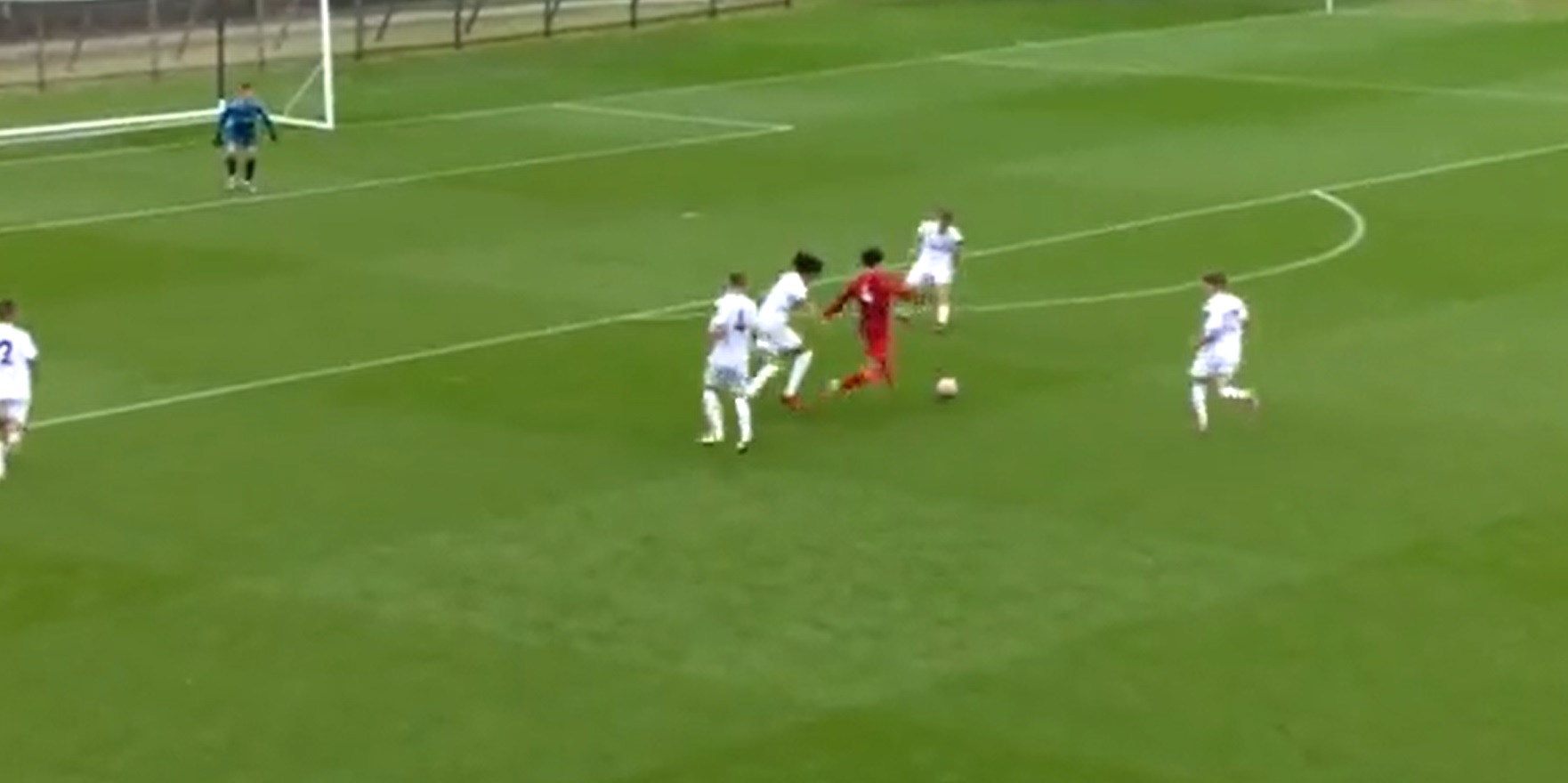 (Video) Young Liverpool defender embarks on crazy, Matip-esque run to set up goalscoring chance on other end of the pitch