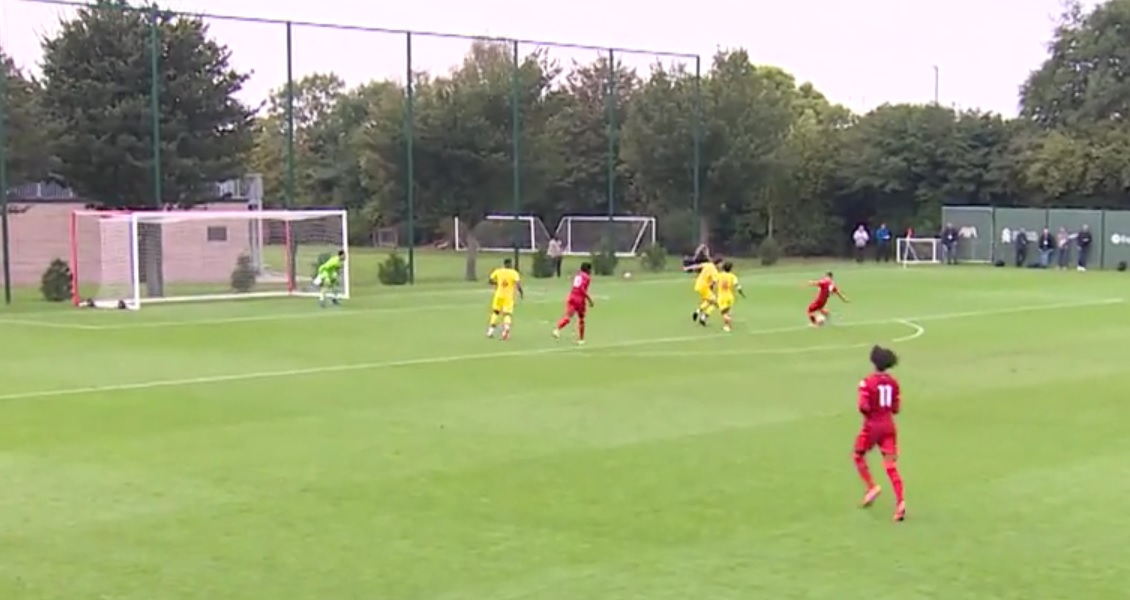 (Video) Liverpool starlet bags ninth goal in five games with outstanding hat-trick