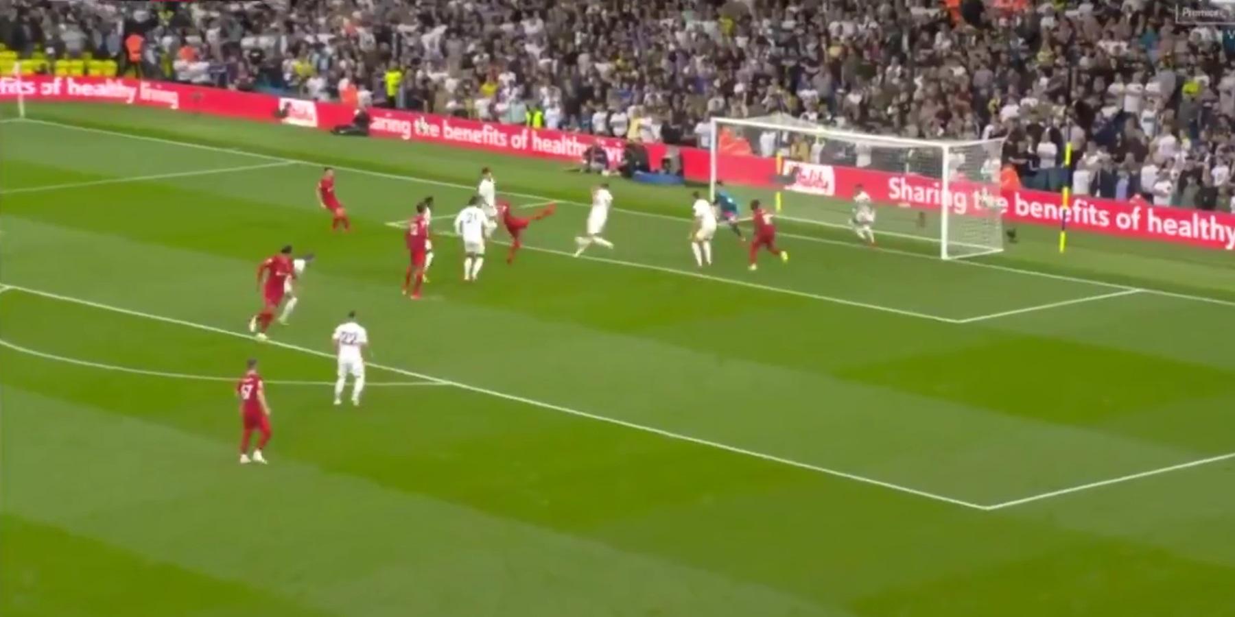 (Video) Fabinho doubles Liverpool's lead v. Leeds with rare goal