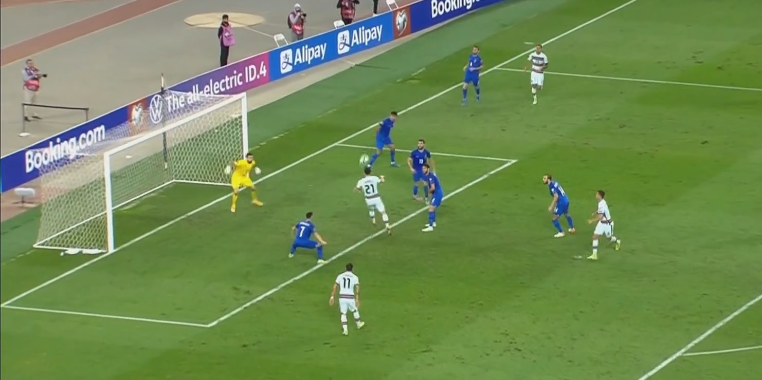 (Video) Jota scores another header on international duty to help sink Azerbaijan in 3-0 Portugal victory