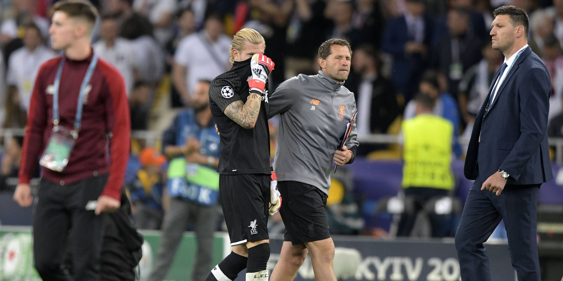 Liverpool coach cites Klopp's philosophy in reaction to Karius' involvement in 2017/18 Champions League final defeat