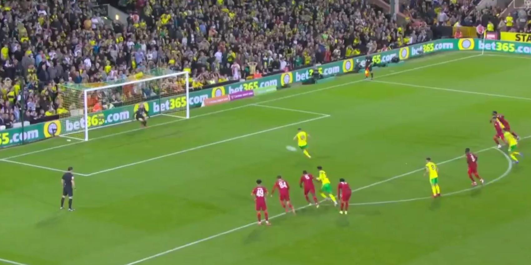 (Video) Liverpool goalkeeper Caoimhin Kelleher denies Norwich City penalty-kick