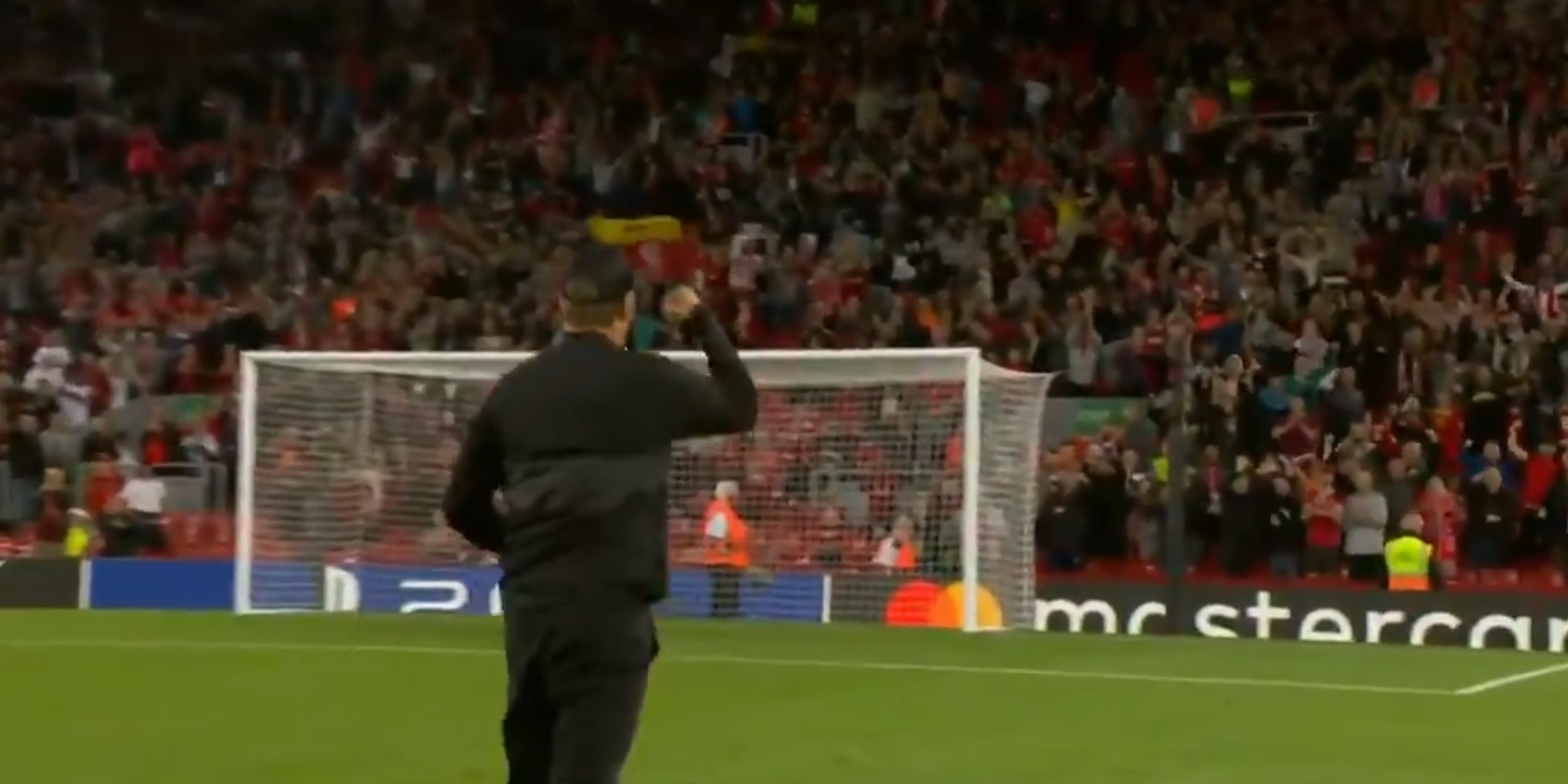 (Video) Jurgen Klopp salutes delirious Anfield after Liverpool secure remarkable opening Champions League win v AC Milan
