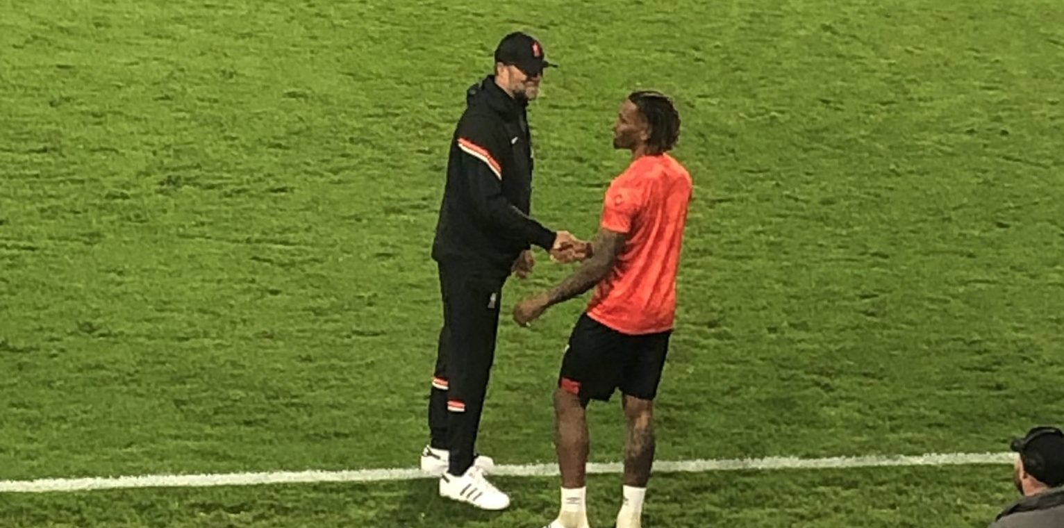 (Photo) Klopp and Brentford top-scorer Toney pictured in post-match chat