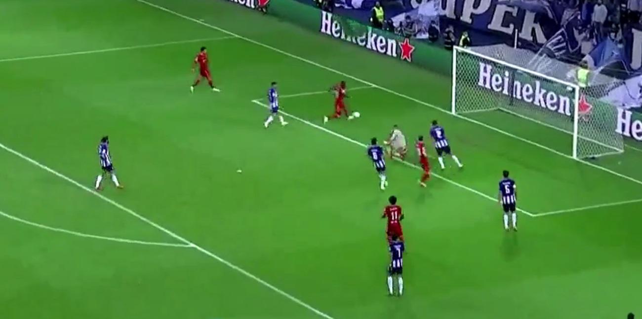 (Video) Sadio Mane makes it 2-0 to Liverpool as Porto fall apart defensively