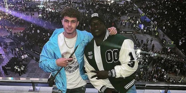(Photo) Liverpool starlet shares snap with well-known Reds fan Adebayo Akinfenwa