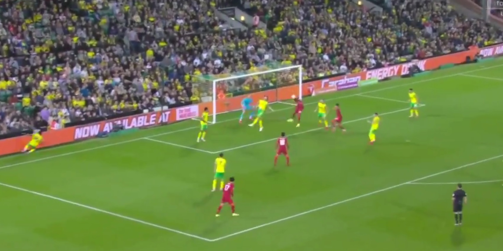 (Video) Divock Origi heads Liverpool 2-0 up against Norwich City with smart finish