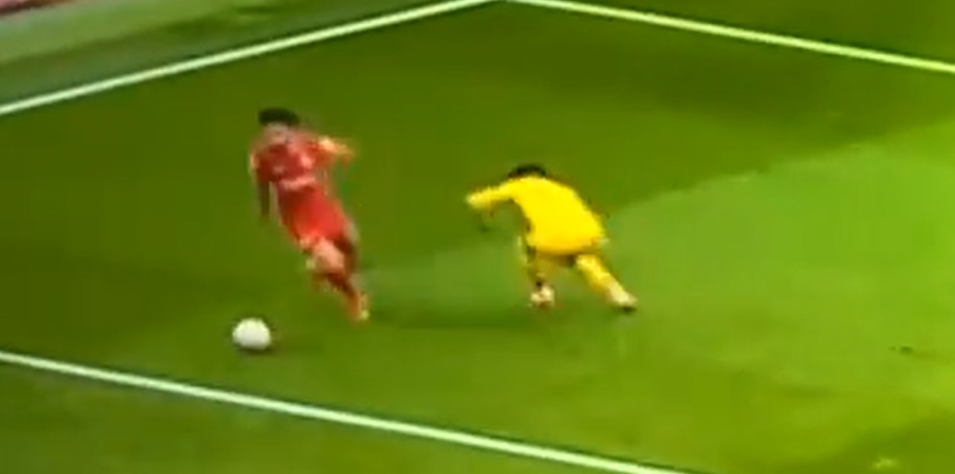 (Video) Salah bamboozles Zaha with quick feet in Liverpool victory