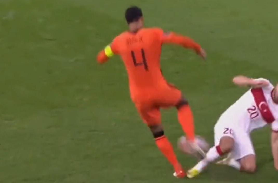 Virgil van Dijk issues injury update after going down in Netherlands' 6-1 demolition of Turkey