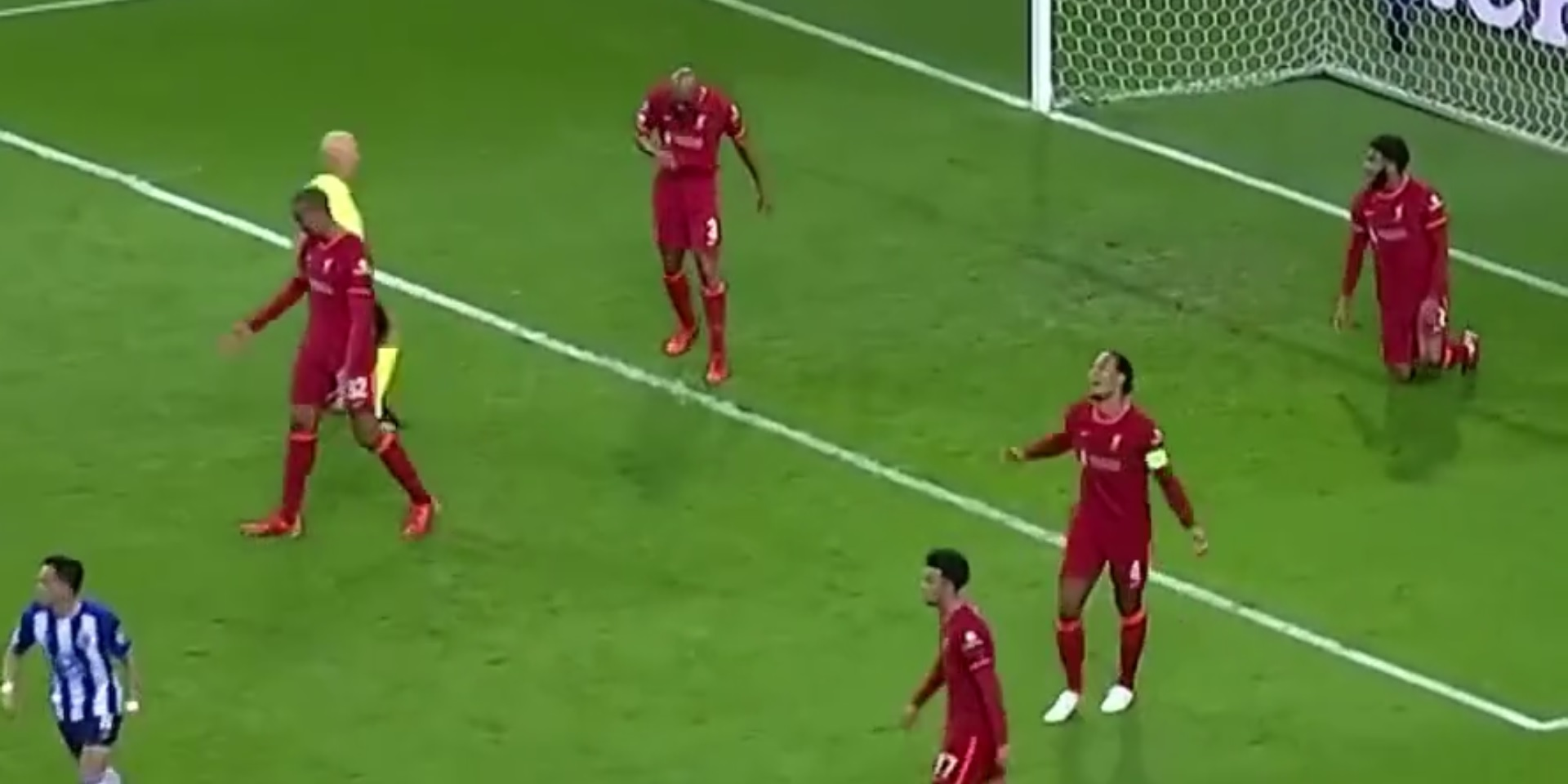 (Video) Liverpool fans need to see van Dijk & Matip's reaction to conceding to Porto